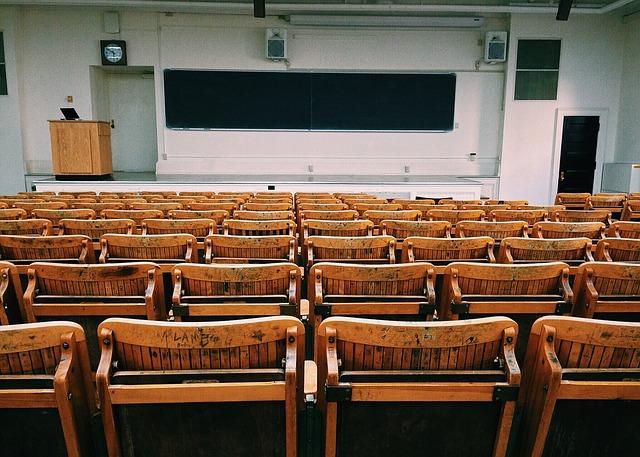 Hörsaal in einer Hochschule